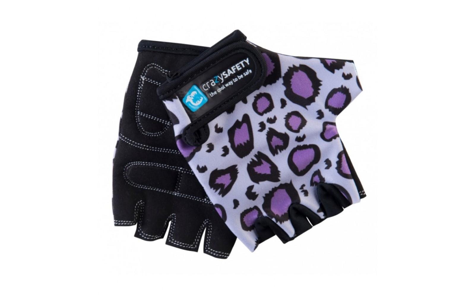 Перчатки Purple Leopard (сиреневый леопард) Crazy Safety