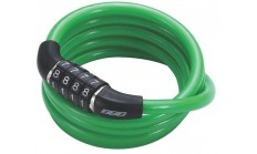 Замок велосипедный BBB QuickCode 8mm x 1200mm Coil cable green зеленый