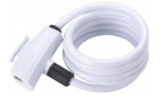 Замок велосипедный BBB QuickSafe 8mm x 1500mm coil cable white белый